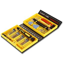 Floureon 38-in-1 Precision Screwdriver Set Repair Tool Kit f