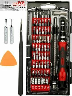 PREMIUM 62 in 1 Repair Tool Kit With 56 Magnetic Bit Set - P