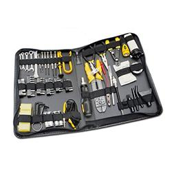 100 Piece Computer Technician Tool Kit for Repairing, Wiring