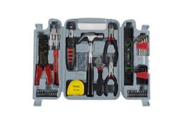 130 Piece Home Repair Tool Set Kit Box for Woman or Man  Red