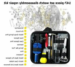 147 pcs Watch Repair Kit Watchmaker Back Case Remover Opener