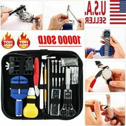 147pcs Watch Repair Kit Watchmaker Back Case Remover Opener