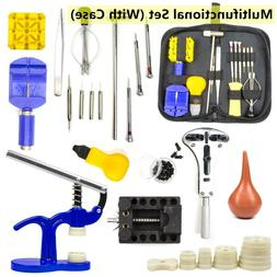 16 pcs Watch Repair Tool Kit Link Remover Spring Bar Screwdr