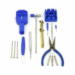 16PCS Watch Repair Tool Kit Band Pin Strap Link Remover Back