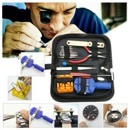 16pcs Watch Repair Tool Kit Link Remover Spring Bar Tool Cas