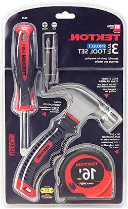 TEKTON 1831 Home Project Tool Set, 3-Piece