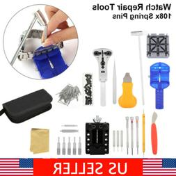 19 PCS Watch Repair Tools Kit Wrist Spring Bar Strap Link Ba