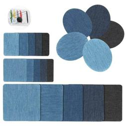 20PCS Denim Iron On Repair Kit Assorted For Mending And Embe