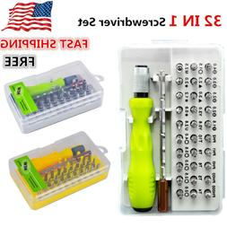 32PCs Precision Screwdriver Set Computer Repair Kit Tools La