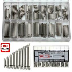 360pcs Watchmaker Watch Band Spring Bars Strap Link Pins Ste