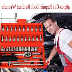 "46pc 1/4"" Car Repair Tool Set Mixed Tools Screwdriver Sets W"