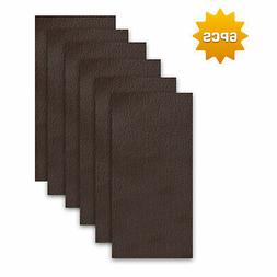 6 Pack Brown Leather Patches Repair Kit Filler Restorer Seat