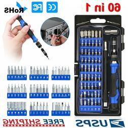 60 in 1 Magnetic Precision Screwdriver Set Computer Pc Phone