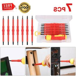 7 In 1 Electrician's Insulated Hand Screwdriver Bit Double-H