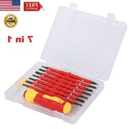 7pcs Insulated Electric Handle Hand Screwdriver Double-Head