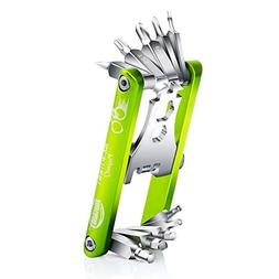 JAKEMY Bike Repair Tool Kit - 11-Function Bike Multi Tool fo