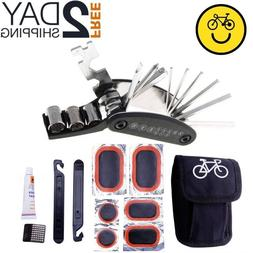 Bike Repair Tool Kits 16 in 1 Multifunction Bicycle Mechanic