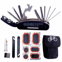 Bike Repair Tool Kits - 16 in 1 Multifunction Bicycle Mechan