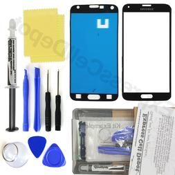 For Black Samsung Galaxy S5 G900/906 Front Glass Screen Repl