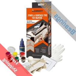 Visbella DIY Leather and Vinyl Repair Kit Fix Holes Rips Uph