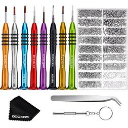 Paxcoo Eyeglass Repair Kit with 8 Pcs Magnetic Eyeglass Scre