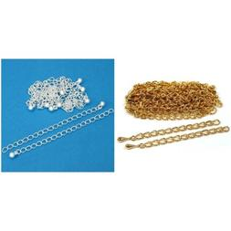 Gold & Silver Plated Necklace Chain Extenders Jewelry Repair