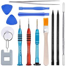 Vastar 16Pcs Cell Phone Repair Tool Kit for iPhone Precision