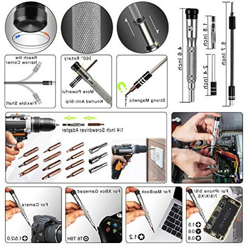 96 in Set Electronic Tool Kit Professional,S2 Steel for Phone/iPad/MacBook/Laptop/Watch/Game Console DIY Pry Replace Screen