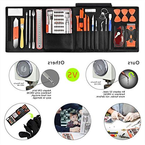96 1 Screwdriver Set Precision,Full Repair Tool Steel for Console Pry Replace