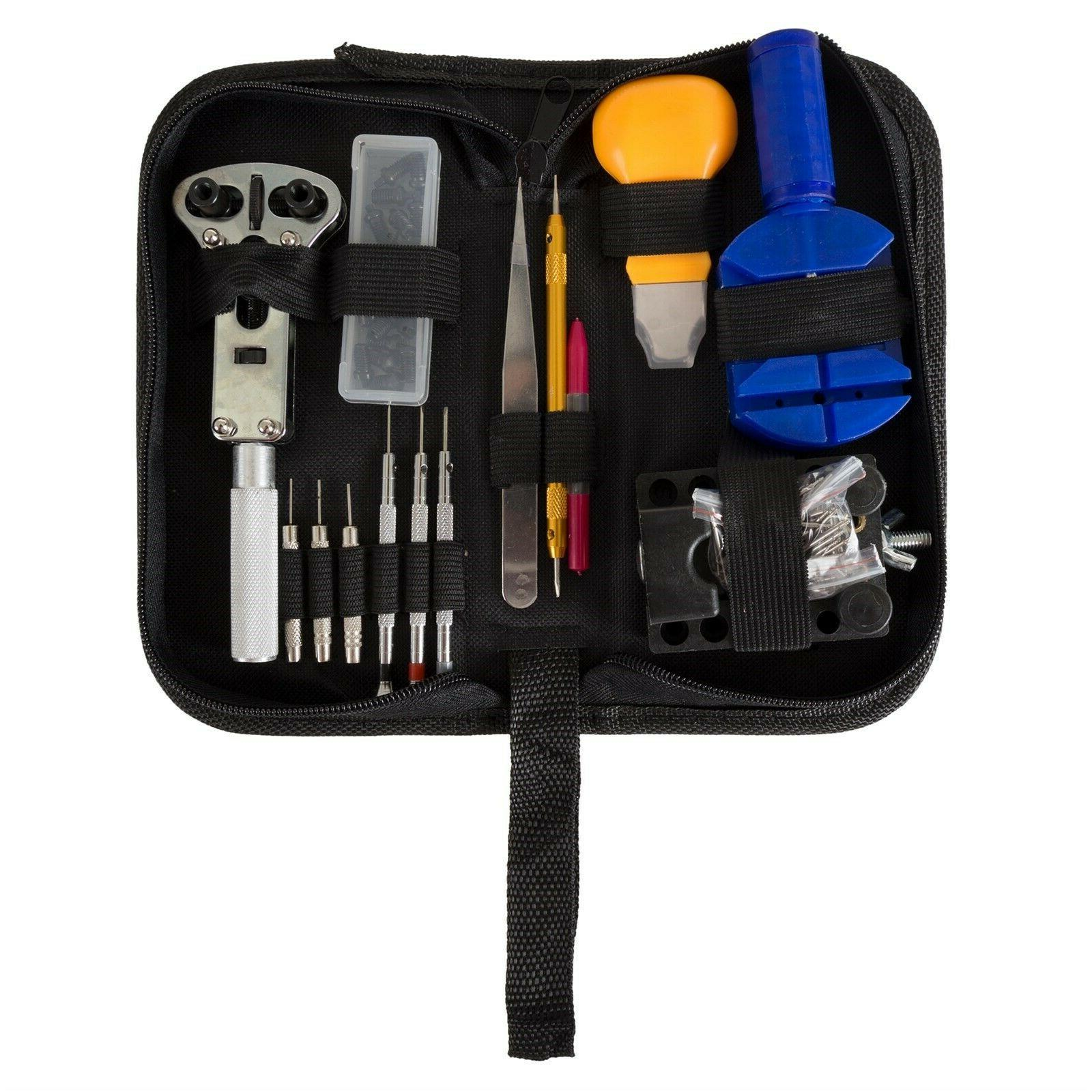 144 Pc Professional Watch Jewelry Repair Tool Kit Link Remov