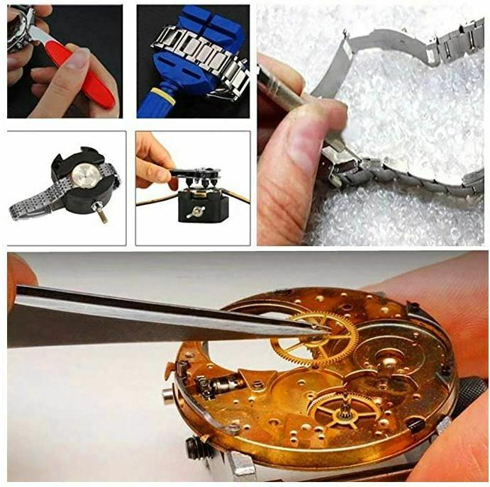 147 pcs Watch Kit Back Case Remover Opener Link Pin Spring