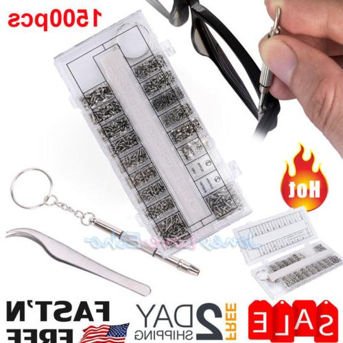 1500 pcs eyeglass repair kit tools