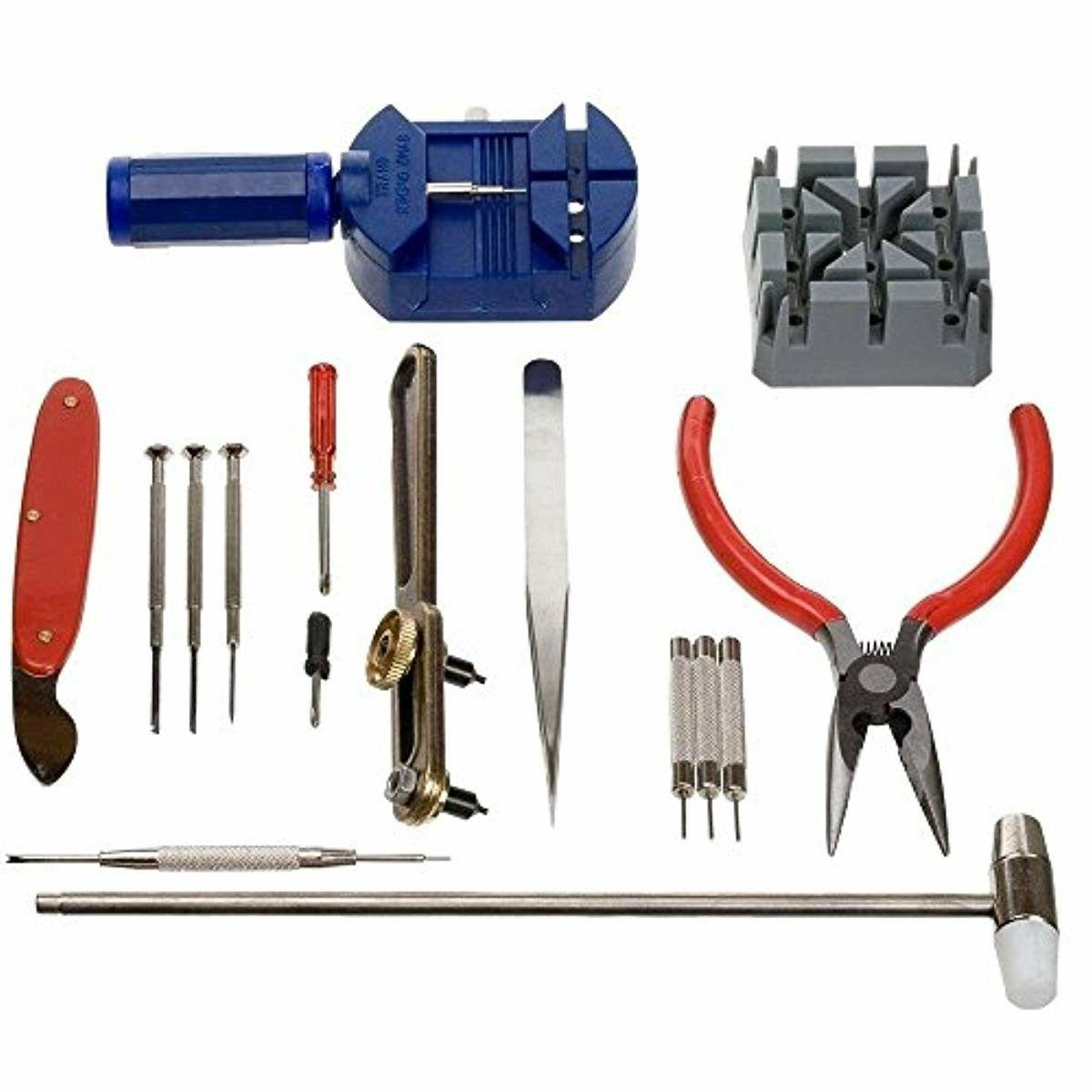 16 pcs watchmaker jewelry repair tool kit