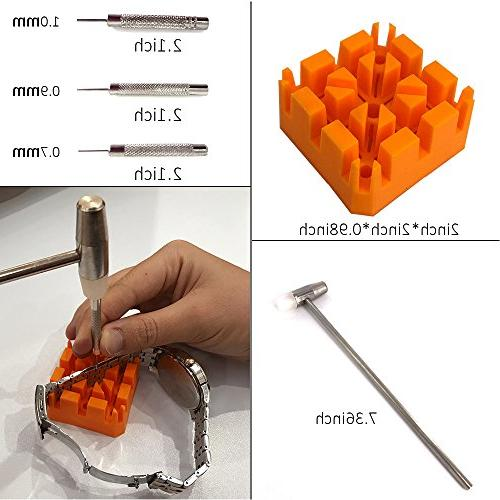 HAOBAIMEI 168 PCS Repair Spring Bar Tool Replacement Tool Link Pin with Carrying Instruction