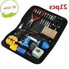21 PCS Watch Repair Tool Kit Case Opener Spring Bar Tool Han