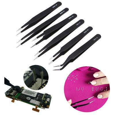 6 TWEEZERS KIT STYLE WATCH REPAIR MICRO DISSECTION