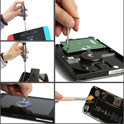 E.Durable Nut Set Repair Tool for Nintendo Switch, New Wii/Wii Lite/GBA/Gamecube Consoles