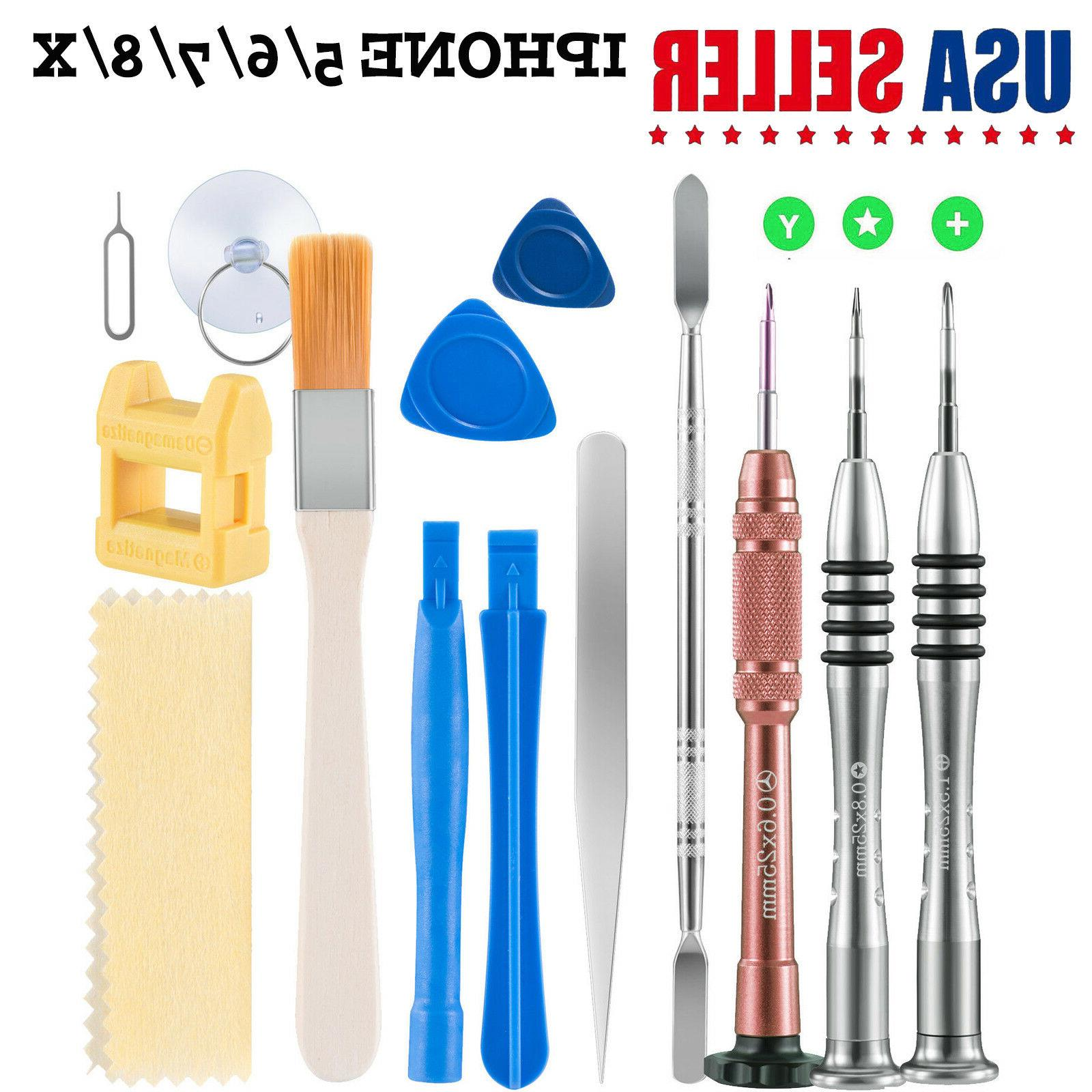 For iPhone 7 Repair Tools Kit Screwdriver Set Opening Tool 4