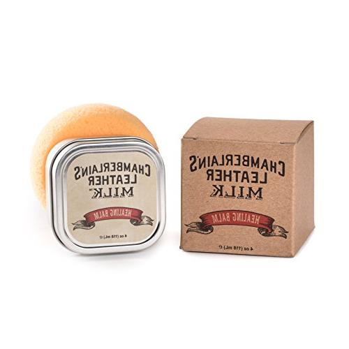 Leather Repair   Healing Balm Heals & Restores Cracked, Leather Cosmetic   in   Absorption Sponge