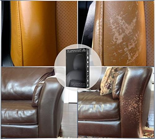 Leather and Repair Kit Car Seats, Purse, Belt, Shoes | Genuine, Italian, PU, |No Heat Required | Repair & Restore
