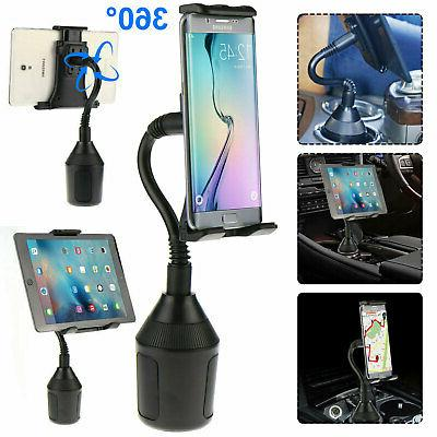 Car Mount Cup Holder Rotating for Phone Tab iPad Mini Air Ta