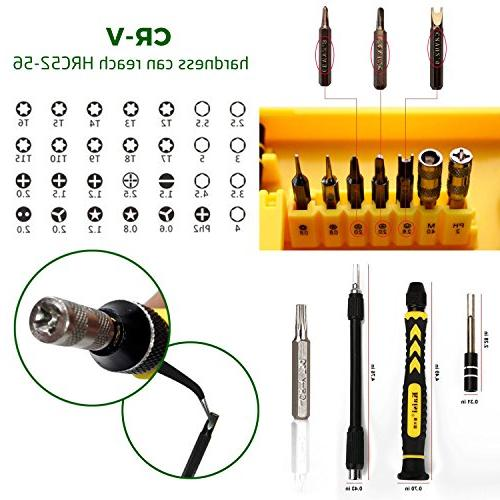 Computer Cellphone Repair Kit, Screwdriver Set, 38 1 and for iPad/ Laptop/ Toy/ Electronic Devices