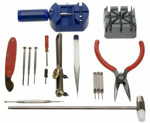 16pc deluxe watch repair kit link remover
