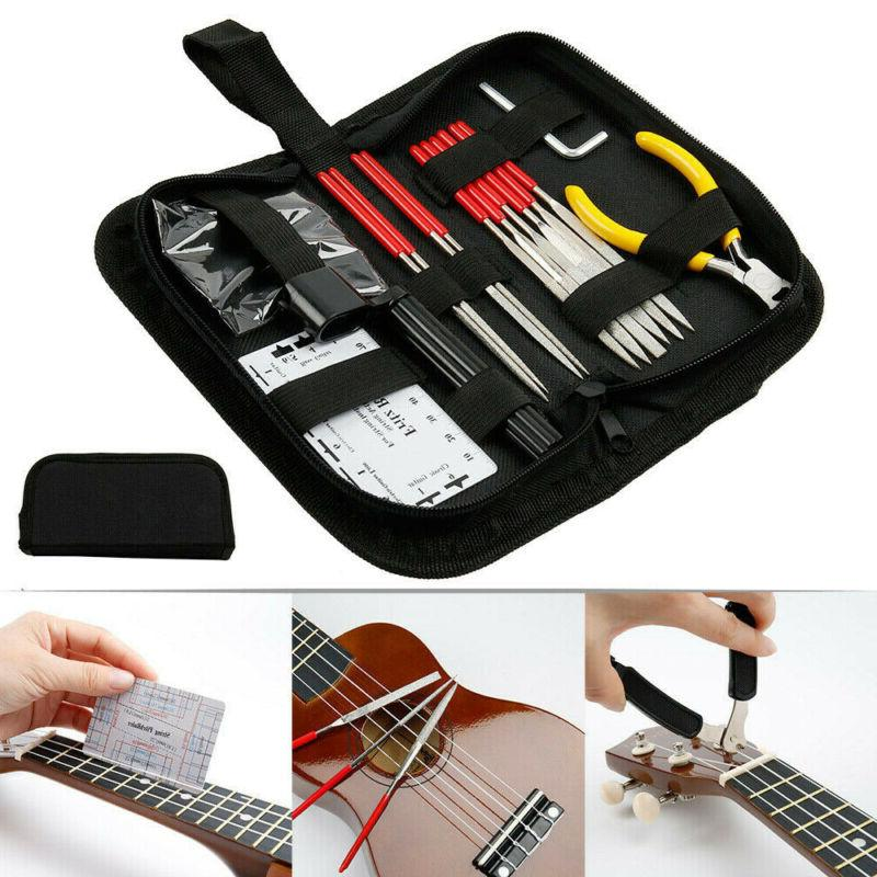 guitar care cleaning repairing tool kit luthier
