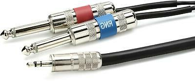 Pro Co IPMB2Q-10 Soundcard Mini Balanced Cable - 10 ft