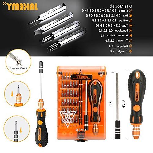Jakemy Screwdriver Set, 89 in Magnetic Precision Bits, Screwdriver Kit with Tool 8