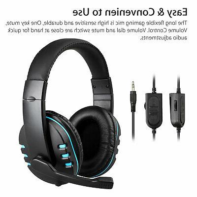3.5mm Gaming Headset Headphone for PS4 Laptop