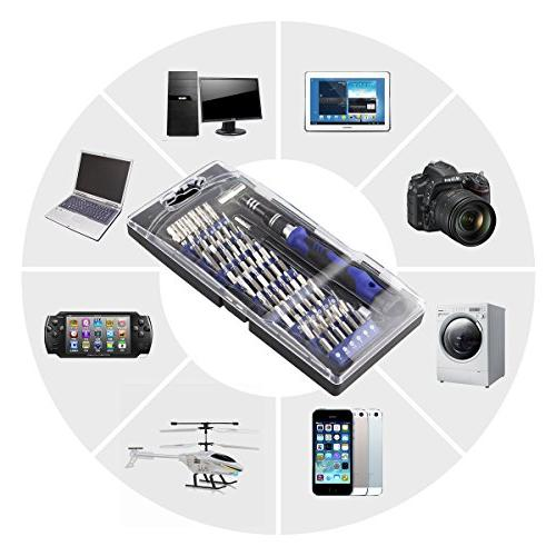 80 1 Screwdriver Set with Driver Repair Portable Repair Cell iPad, Watch, Tablet, MacBook and More