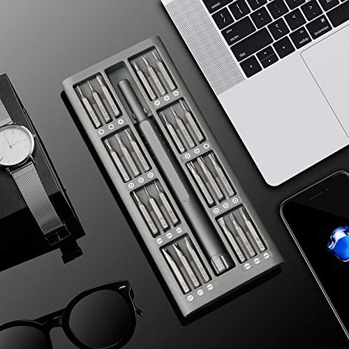 Lifegoo Precision 48 in Magnetic Tool Kit Quality Aluminum Case Phone,Tablet,iPad,Eyeglasses,Household Appliances,Toys,Watches,Laptop