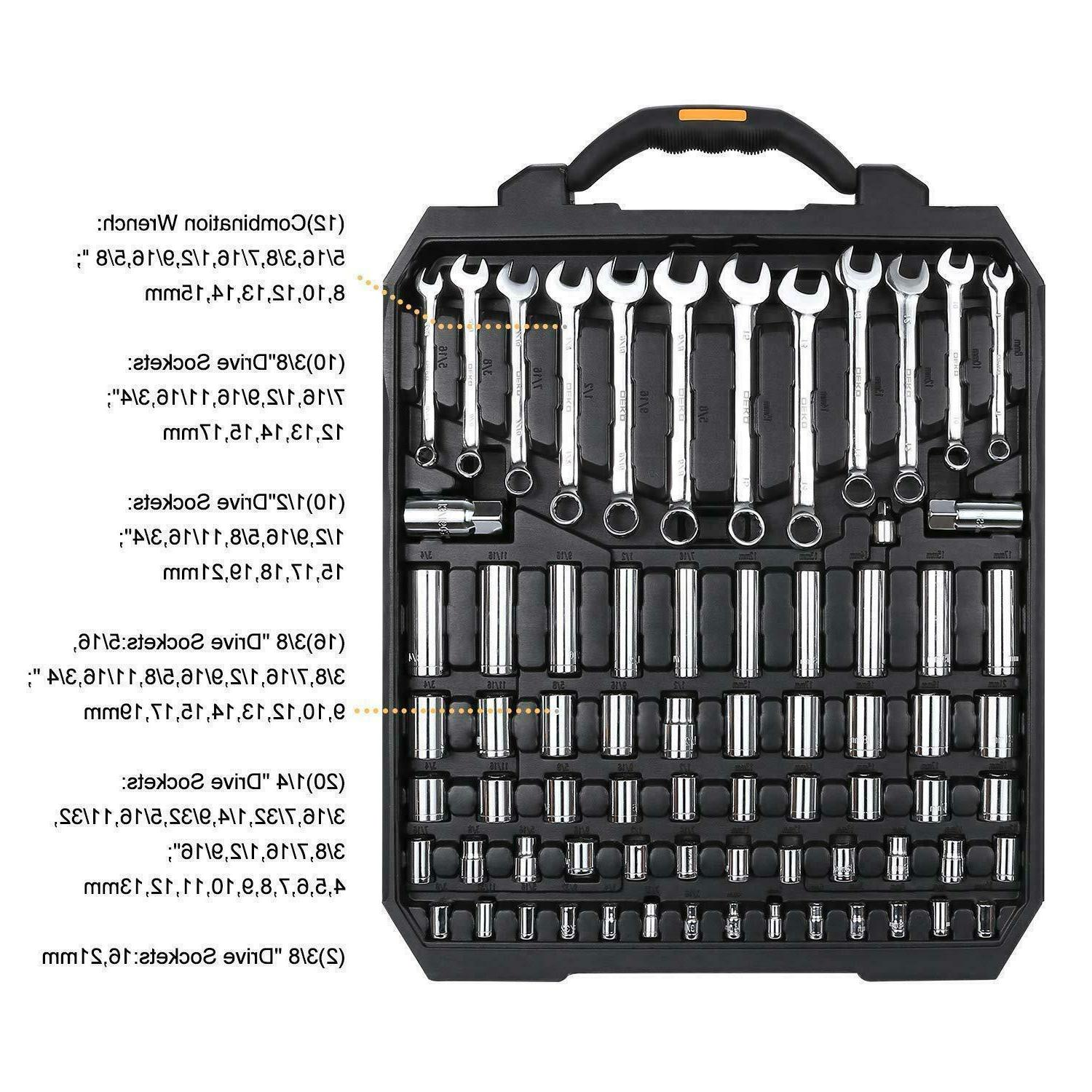 DEKO Pcs Tool Set Wrench Set,Auto Repair Kit